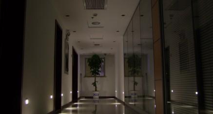 WallLigt 1W som nattbelysning i koridor.